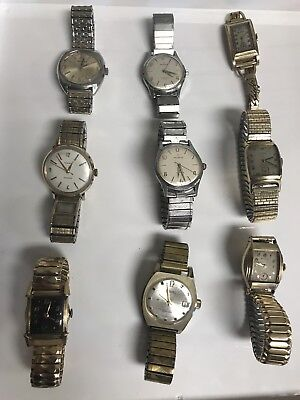 Antique Vintage Art Deco era Gold Silver Mens Wristwatch Watch Lot 101