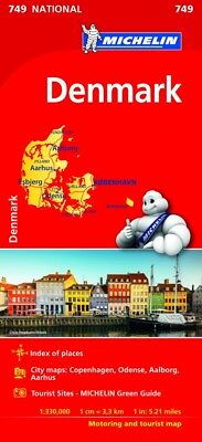 Denmark Map - Michelin 749 - New - Current Edition