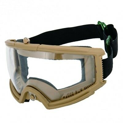 Airsoft Paintball Protective Tactical Safety Goggles Glasses Mask Tan 2605T