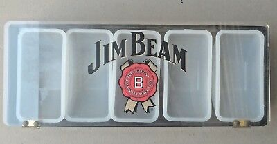 Jim Beam Whiskey The Stuff Inside Matters Most Condiment Fruit Tray Bar Caddy