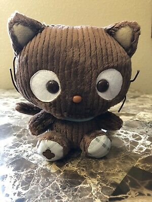 """NWT Sanrio Chococat with blue collar in brown 10"""" Tall"""