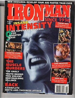 IRONMAN BODYBUILDING MUSCLE fitness magazine Tom Platz/Larry Scott 8-95