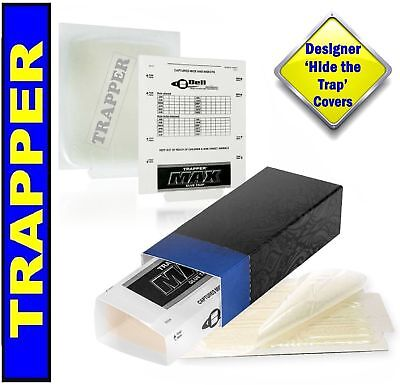 Trapper Glue Traps and 'Hide the Trap' Blue Covers 10 PACK. Catch Mice, Insec...