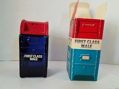 Vintage Avon Bravo First Class Male Mailbox Cologne After Shave Decanter Bottle