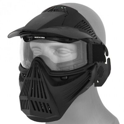 Airsoft Paintball Protective Tactical Safety Goggles Full Face Mask Black 2607