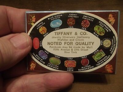 Vintage Tiffany & Co. Jewelry ~ New York Promotional Card / Pocket Mirror
