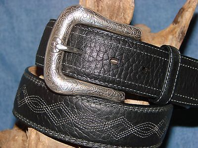 New SZ. 34 Ariat BLACK EMBROIDERY Belt FIRST QUALITY combined shipping T353