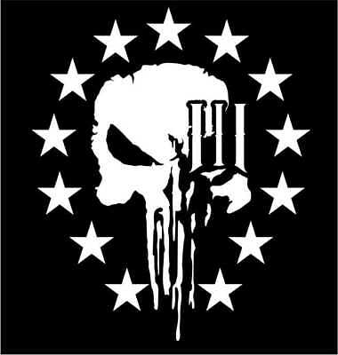 American Flag Punisher USA Old Glory Vinyl Decal Sticker Buy p101