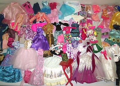 "Large Group Lot Barbie Doll & Other 11 1/2"" Fashion Doll Clothes Disney +"