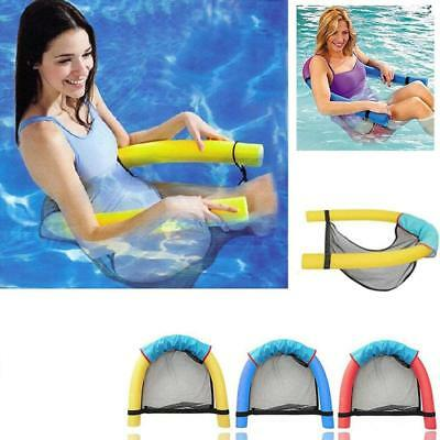 FLOATING LOUNGER FLOATING Chair Net Swimming Seat Pool Float ...