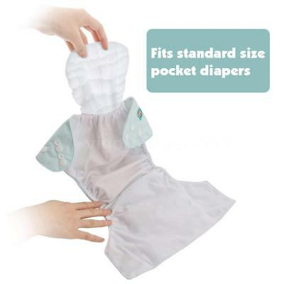 2X Infant White Ecological Cotton Baby Cloth Diaper Washable Nappy Inserts O0A5