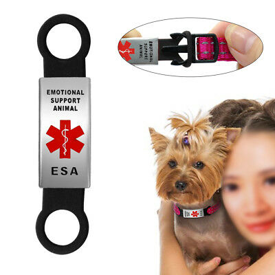 Emotional Support Animal Dog Tag Slide-on ESA Pet Cat Dog Kitten Tags Collars
