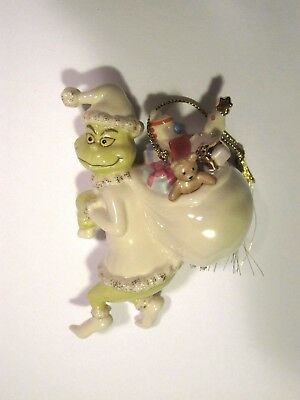 Old Grinchy Claus Christmas Ornament, Lenox, Dr. Seuss, new in box