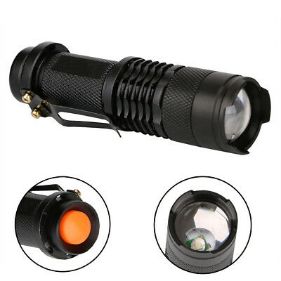 XPE LED Red Signal Lamp Flashlight Torch 3 Modes Battery Powered Hand Light