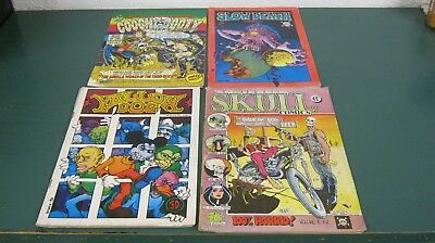 (4) 1970 comix: Coochy Cooty 1, Slow Death Funnies 1, Yellow Dog, Skull Comics