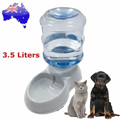 Large Automatic Pet Dog Cat Water Feeder Bottle Self Feeding Bowl Dispenser 3.5L