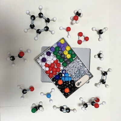 3D Molecular Model Organic Chemistry Atom Molecules Kit School Teaching Tool 240