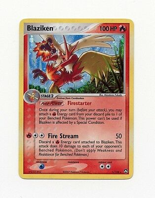 Lohgock Blaziken Holo DE NM Pokemon 5/108 EX Power Keepers