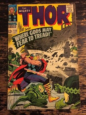 Thor #132 First Appearance of Ego the Living Planet (Marvel, 1966) CGC It
