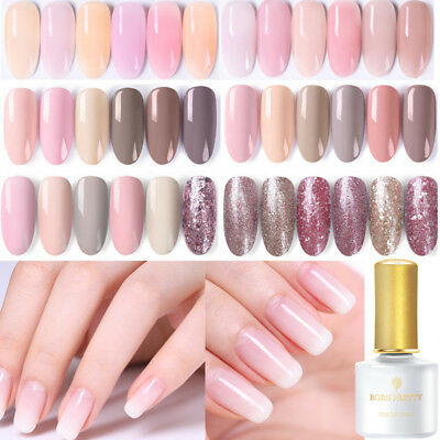 6ml BORN PRETTY Jelly Pink Gel Soak Off UV Gel Nail Polish Semi-transparent DIY
