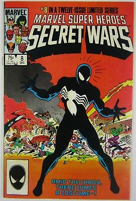 Marvel Super Heroes Secret Wars #8 Key Issue Origin Venom Symbiote VF+/NM