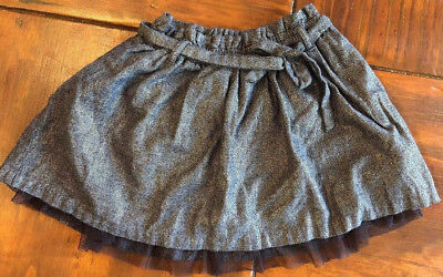 Gap Kids Girls Color Shiny Chocolate With Brown Ruffle on Botton Skirt Medium(8)