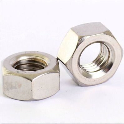 M1.6 Stainless Hex Full Nuts Hexgon Plain Nuts DIN 934 10 PACK