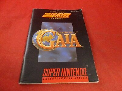 Illusions of Gaia Super Nintendo SNES Instruction Manual Booklet ONLY