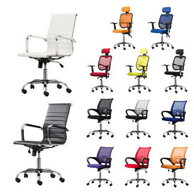 Mesh Office Chair High Back Computer Chair PU Leather Office Chair  Ergonomic