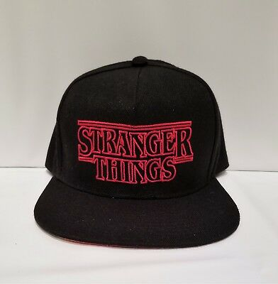 STRANGER THINGS BLACK Hat Loungefly Authentic RARE snapback NWT ... 564eab9aafa