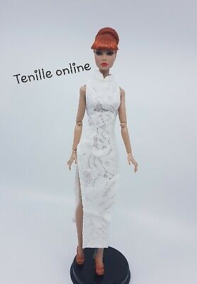 New Barbie clothes outfit princess wedding dress gown sexy white