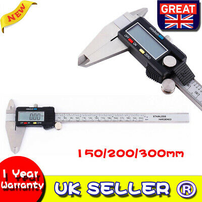 Digital Vernier Caliper Stainless Micrometer Electronic Gauge 150MM 200MM 300MM