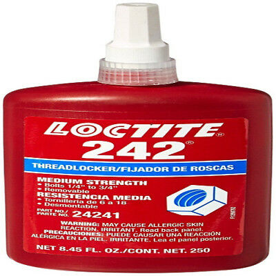 Loctite 425550 Blue 242 Medium Strength Threadlocker, 250 mL Bottle