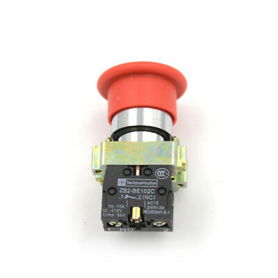 1x XB2 BC42 Turn to Release N/C Turn Reset Emergency Stop Push Button Switch 9UK