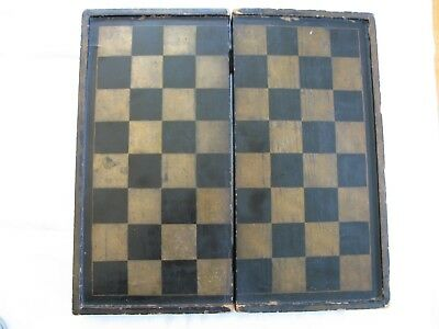 Antique Folding Chinese Lacquer Checkerboard Box