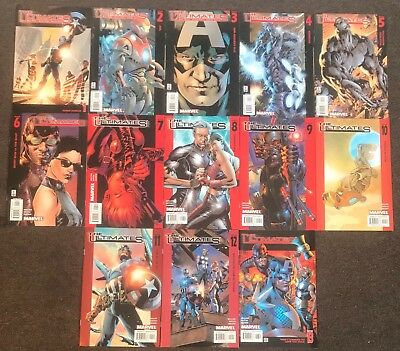 13 The Ultimates #1,2,3,4,5,6,7,8,9,10,11,12,13 2002 Mark Millar Marvel Set NM