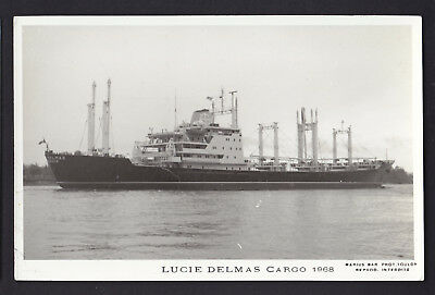 Blank Plain Back Postcard Sized Photo Card Lucie Delmas Cargo Ship 1968 Boat