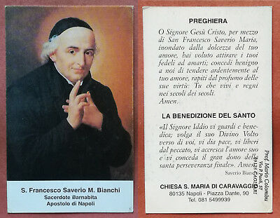 Santino Holy Card: S. San Francesco Saverio M. Bianchi