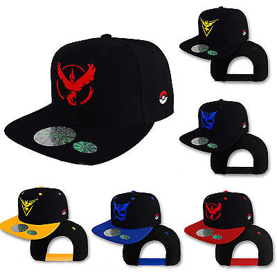 Pokemon Go Cap Hats Team Valor Team Mystic Team Instinct Pokemon Caps Adjustable