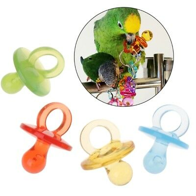 4pcs Parrot Toys Acrylic Nipple Bite Chew Colorful Birds Supplies DIY Accessory