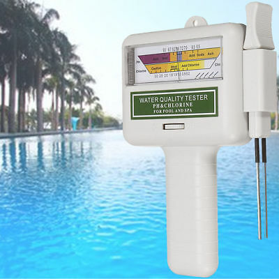Digital Water Quality PH/CL2 Chlorine Tester Level Meter for Swimming Pool Spa