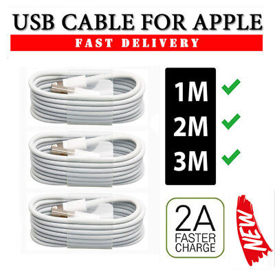 UK 3M Cable for iPhone X 10/8/7/6/5S Extra Long Lightning Charger USB Lead Cable