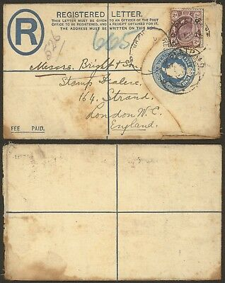 Transvaal - Registered stationery to London England 28901