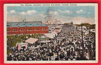 Postcard ~ Midway Canadian national exhibition Toronto Canada ~ Vintage 389