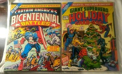 Marvel Treasury Edition Captain America Bicentennial 1976+ Holiday Grab Bag 1975