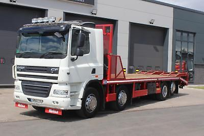 2012 Daf CF85 360 8x2 Rigid Beavertail Day Cab, Andover 31ft Beaver Tail Body