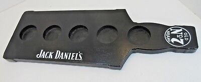 Jack Daniels Old Brand NO.7 5 Sample Glass Holder Made From Wood
