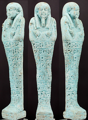 Egyptian Shabti for Nesptah priest sameref, prophet of Isis ca. 16.5.cm.