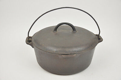 Griswold #9 Cast Iron Tite Top DUTCH Oven 2552 slant logo & 834 B ERIE USA Camp