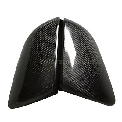 Carbon Fiber Side Mirror Covers for Ford Mustang 2015-2019 with LED F0M3